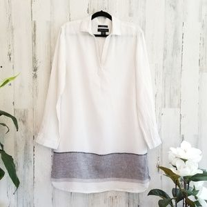 Tahari Linen Tunic